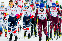 February 2, 2018 - Goms, Switzerland - Lovise Heimdal of Norway competes in the women's 7,5/7,5 km skiathlon during the FIS U23 Cross-Country World Ski Championships.(Credit Image: © Vegard Wivestad Grottt/Bildbyran via ZUMA Press)