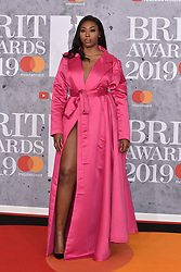 February 20, 2019 - London, United Kingdom of Great Britain and Northern Ireland - Ms Banks arriving at The BRIT Awards 2019 at The O2 Arena on February 20, 2019 in London, England  (Credit Image: © Famous/Ace Pictures via ZUMA Press)