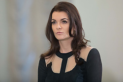 January 11, 2019 - Warsaw, Poland - Tennis player Agnieszka Radwanska attends the award ceremony of the Order of Polonia Restituta from Polish President Andrzej Duda (not In Picture) in Warsaw, Poland, on 11 January 2019. (Credit Image: © Foto Olimpik/NurPhoto via ZUMA Press)