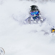 Keely Kelleher skis in-bounds blower powder at Jackson Hole Mountain Resort.