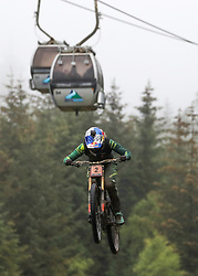 Great Britain's Rachel Atherton during the UCI Mountain Bike World Cup at Fort William.