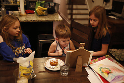 Priest kids Phoenix Hill, morning routine and Jennifer's 35th Birthday in Crestwood, Friday, Jan. 27, 2017 at Phoenix Hil and Komis Kastle in Louisville and Crestwood.