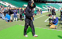 Delon Armitage - 01.05.2015 - Captains' Run de Toulon avant la finale - European Rugby Champions Cup -Twickenham -Londres<br /> Photo : David Winter / Icon Sport