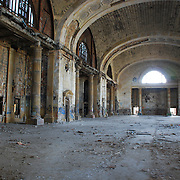 Detroit's Abandoned Train Station. Michigan Central Station<br /> Michigan Central Station (also known as Michigan Central Depot or MCS), built in 1913 for the Michigan Central Railroad, was Detroit, Michigan's, passenger rail depot from its opening in 1913, when the previous Michigan Central Station burned, until the last Amtrak train pulled away from the station on January 6, 1988.