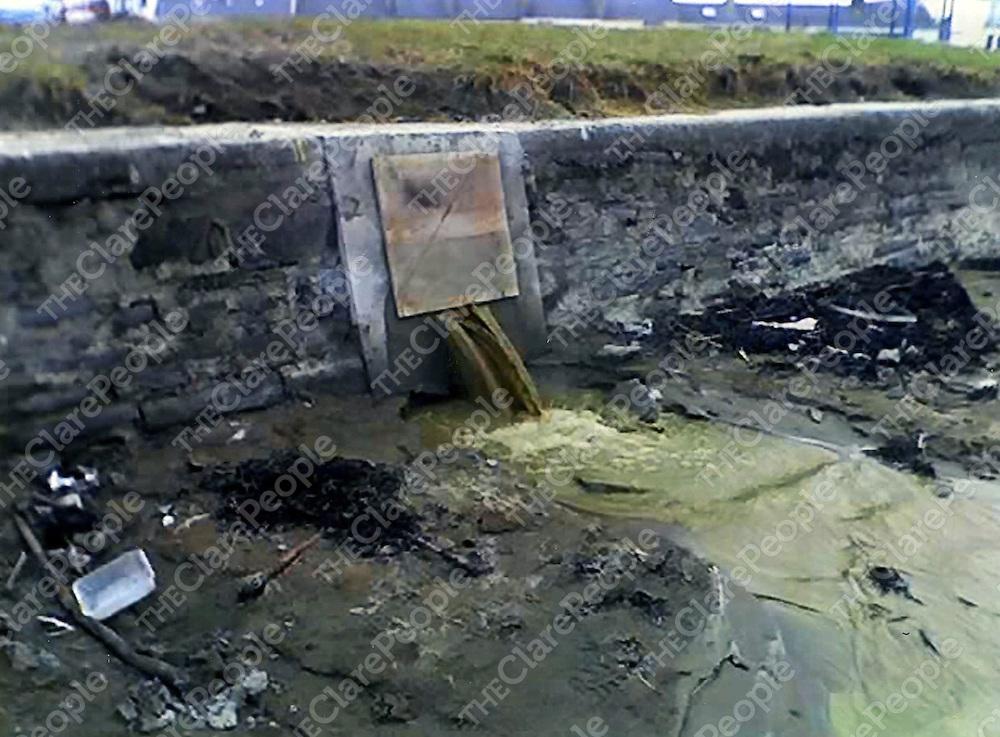 Kilkee beach pollution.