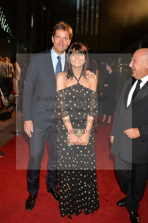 KRIS THYKIER and CLAUDIA WINKLEMAN at the GQ Men of The Year Awards 2016 in association with Hugo Boss held at Tate Modern, London on 6th September 2016.