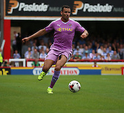 Hal Robson-Kanu (Robson Kanu) (Reading midfielder) seemed to find space in the Brentford half during the Sky Bet Championship match between Brentford and Reading at Griffin Park, London, England on 29 August 2015. Photo by Matthew Redman.