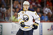 SHOT 3/28/15 9:22:39 PM - The Buffalo Sabres' Rasmus Ristolainen #55 plays against the Colorado Avalanche in their regular season NHL game at the Pepsi Center in Denver, Co. The Avalanche won the game 5-3. (Photo by Marc Piscotty / © 2015)