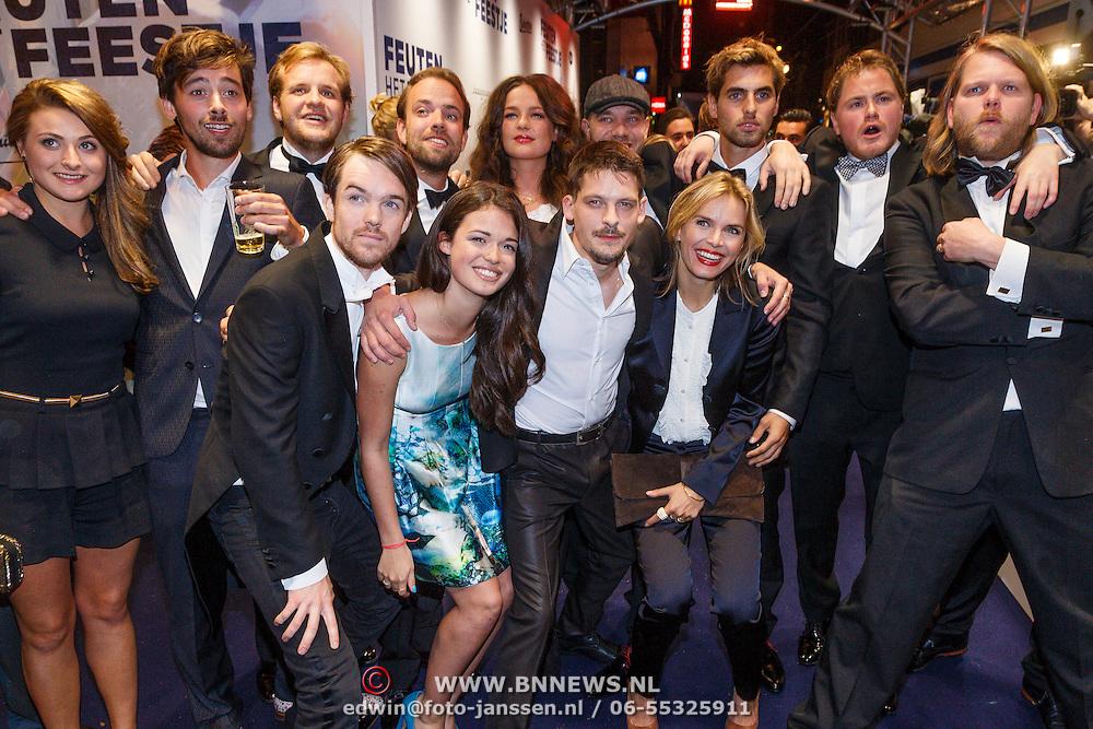 NLD/Amsterdam/20130114 - Premiere Feuten de Serie, cast, Hanna Verboom, Robert de Hoog en diverse anderen
