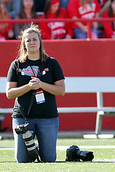 08 October 2016:  Becky Banks.  NCAA FCS Missouri Valley Football Conference Football game between Youngstown State Penguins and Illinois State Redbirds at Hancock Stadium in Normal IL (Photo by Alan Look)