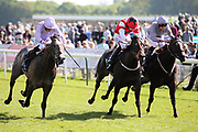 GARRUS (4) ridden by Ryan Moore and trained by Jeremy Noseda winning The Listed British Stallion Studs EBF Westow Stakes over 5f (£50,000)   during the second day of the Dante Festival at York Racecourse, York, United Kingdom on 16 May 2019.