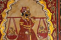 Inde - Rajasthan - Shekawati - Village de Mahansar - La maison de l'or - Détail