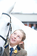 15/08/2013. Maria Gorham from Clifden with Daisy (Emloughmore Daisy) at the 90th Connemara Pony show in Clifden Co. Galway. Photo:Andrew Downes