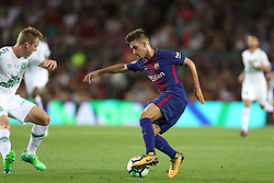 August 7, 2017 - Barcelona, Spain - Denis Suarez of FC Barcelona during the 2017 Joan Gamper Trophy football match between FC Barcelona and Chapecoense on August 7, 2017 at Camp Nou stadium in Barcelona, Spain. (Credit Image: © Manuel Blondeau via ZUMA Wire)