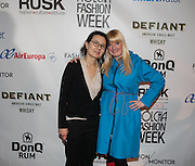 Fashion designer June Sohn and Nolcha's Kerry Bannigan at Nolcha Fashion Week New York Fall-Winter 2014. Nolcha Fashion Week New York is a leading award winning event, held during New York Fashion Week, for independent fashion designers to showcase their collections to a global audience of press, retailers, stylists and industry influencers. Over the past six years Nolcha Fashion Week: New York has established itself as a platform of discovery promoting innovative fashion designers through runway shows and exhibition. Nolcha Fashion Week: New York has built an acclaimed reputation as a hot incubator of new fashion design talent and is officially listed by New York City Economic Development Corporation; offering a range of cost effective options to increase designers recognition and develop their business. (Photo: www.JeffreyHolmes.com)