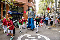 Catalan Weekend, Barcelona, Catalonia, Spain - a fiesta in the Rambla del Poblenou, Barcelona<br /> <br /> <br /> (c) Andrew Wilson | Edinburgh Elite media