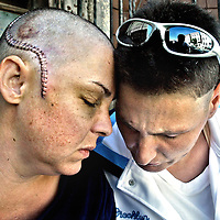 A couple victimized by gay-bashing in Boston.<br />