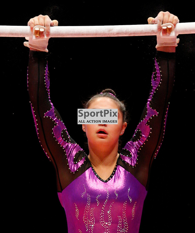 2015 Artistic Gymnastics World Championships being held in Glasgow from 23rd October to 1st November 2015..Kiara Munteanu (Australia) competing in the Uneven Bars competition...(c) STEPHEN LAWSON | SportPix.org.uk
