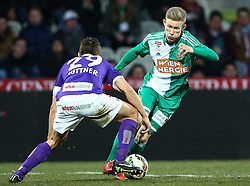 08.03.2015, Generali Arena, Wien, AUT, 1. FBL, FK Austria Wien vs SK Rapid Wien, 24. Runde, im Bild Markus Suttner (FK Austria Wien) und Florian Kainz (SK Rapid Wien) // during Austrian Football Bundesliga Match, 24th Round, between FK Austria Vienna and SK Rapid Wien at the Generali Arena, Vienna, Austria on 2015/03/08. EXPA Pictures © 2015, PhotoCredit: EXPA/ Thomas Haumer