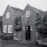 Methúsalem Methúsalemsson - bondi á Bustarfell - Burstafell - Burstarfell 1961, Vopnafjarðarhreppur /.Methusalem Methusalemsson the old farmer at Bustarfell - Burstafell farm - museum in Vopnafjardarhreppur. Photo taken 1961