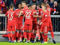 08.12.2018, 1.BL, FCB vs 1.FC Nuernberg, Allianz Arena Muenchen, Fussball, Sport, im Bild:..Rafinha (FCB), David Alaba (FCB), Niklas Suele (FCB), Robert Lewandowski (FCB), Serge Gnabry (FCB), Leon Goretzka (FCB), Jerome Boateng (FCB) und Franck Ribery (FCB) jubeln..DFL REGULATIONS PROHIBIT ANY USE OF PHOTOGRAPHS AS IMAGE SEQUENCES AND / OR QUASI VIDEO...Copyright: Philippe Ruiz..Tel: 089 745 82 22.Handy: 0177 29 39 408.e-Mail: philippe_ruiz@gmx.de. (Credit Image: © Philippe Ruiz/Xinhua via ZUMA Wire)