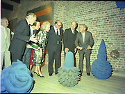 24/08/1984<br /> 08/24/1984<br /> 24 August 1984<br /> Opening of ROSC '84 at the Guinness Store House, Dublin. Mr Brian Slowey Managing Director, Guinness,Ireland; Minister of State for Arts and Culture Ted Nealon; Mrs Maeve Hillery Lord Iveagh and  President Patrick Hillery  listen to Mr Pat Murphy ROSC Chairman, describe an exhibit.