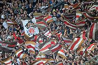 Fussball, 2. Bundesliga, Saison 2011/12, SG Dynamo Dresden - FC St.Pauli, Sonntag (29.04.12), gluecksgas Stadion, Dresden. St. Pauli Fans.