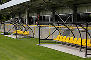 Harrogate Town during the Friendly match between Harrogate Town and York City at Wetherby Road, Harrogate, United Kingdom on 25 July 2015. Photo by Simon Davies.