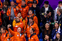22-02-2018 KOR: Olympic Games day 13, PyeongChang<br /> Short Track Speedskating / Support publiek, Oranje