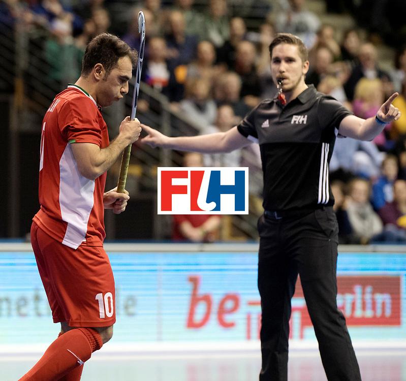 BERLIN - Indoor Hockey World Cup<br /> Quarterfinal 1: Iran - Czech Republic<br /> foto: NOROUZZADEH Reza missed his Ps.<br /> WORLDSPORTPICS COPYRIGHT FRANK UIJLENBROEK
