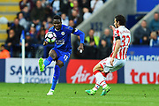 Leicester City Daniel Amartey (13) during the Premier League match between Leicester City and Stoke City at the King Power Stadium, Leicester, England on 1 April 2017. Photo by Jon Hobley.