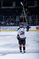 KELOWNA, BC - DECEMBER 18: The Pepsi Player of the game lines up at the Kelowna Rockets against the Vancouver Giants  at Prospera Place on December 18, 2019 in Kelowna, Canada. (Photo by Marissa Baecker/Shoot the Breeze)