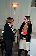 MARY QUANT; ALEX SHULMAN, Dinner to mark 50 years with Vogue for David Bailey, hosted by Alexandra Shulman. Claridge's. London. 11 May 2010