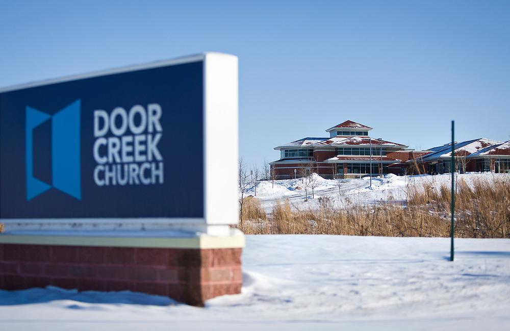 Exterior of Door Creek Church in Cottage Grove, Wisconsin, Sunday, Feb. 4, 2018.