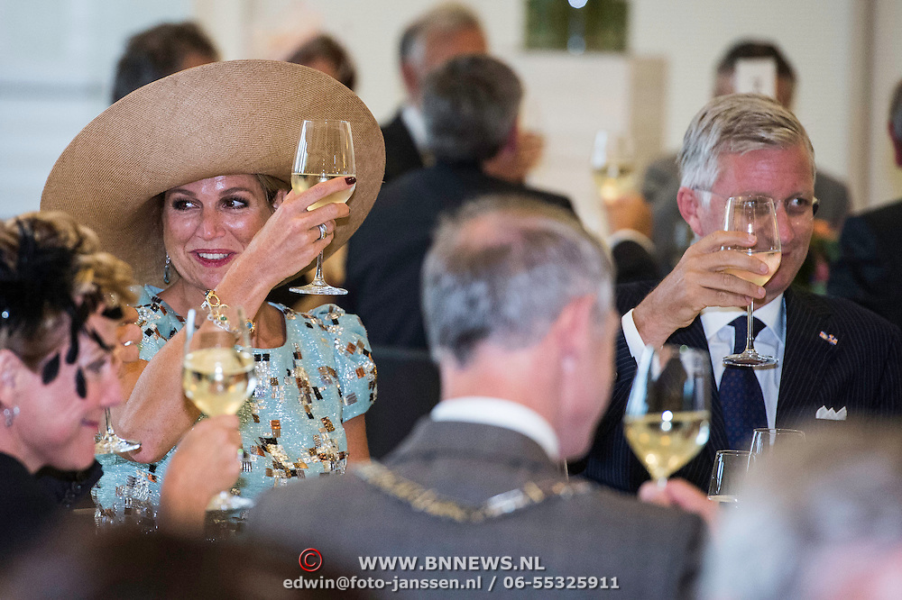 NLD/Maastricht/20140830 - Festivities on the occasion of the 200th jubilee of the Kingdom of the Netherlands in Maastricht - 200 Jaar Koninkrijk der Nederlanden, Queen Máxima and King Philippe van België