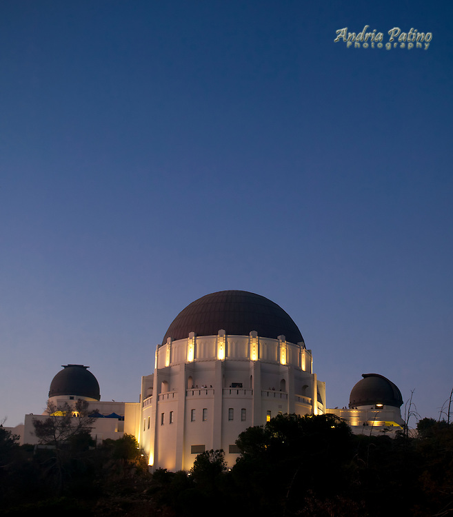 Griffith Observatory at twilight, Los Angeles