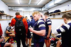 Aaron Thompson of Bristol Bears U18 after Bears U18 win 18-17 - Rogan/JMP - 14/12/2019 - RUGBY UNION - Shaftesbury Park - Bristol, England - Bristol Bears U18 v Bath Rugby U18 - Premiership Rugby U18 Academy League.