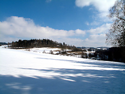 CZECH REPUBLIC VYSOCINA NEDVEZI 7MAR10 - Winter landscape near the village of Nedvezi, Vysocina, Czech Republic...jre/Photo by Jiri Rezac..© Jiri Rezac 2010
