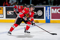 KELOWNA, CANADA - APRIL 19: Nicolas Petan #19 of the Portland Winterhawks skates with the puck against the Kelowna Rockets on April 18, 2014 during Game 2 of the third round of WHL Playoffs at Prospera Place in Kelowna, British Columbia, Canada.   (Photo by Marissa Baecker/Shoot the Breeze)  *** Local Caption *** Nicolas Petan;
