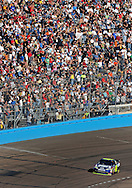Nov. 15, 2009; Avondale, AZ, USA; NASCAR Sprint Cup Series driver Jimmie Johnson during the Checker O'Reilly Auto Parts 500 at Phoenix International Raceway. Mandatory Credit: Jennifer Stewart-US PRESSWIRE