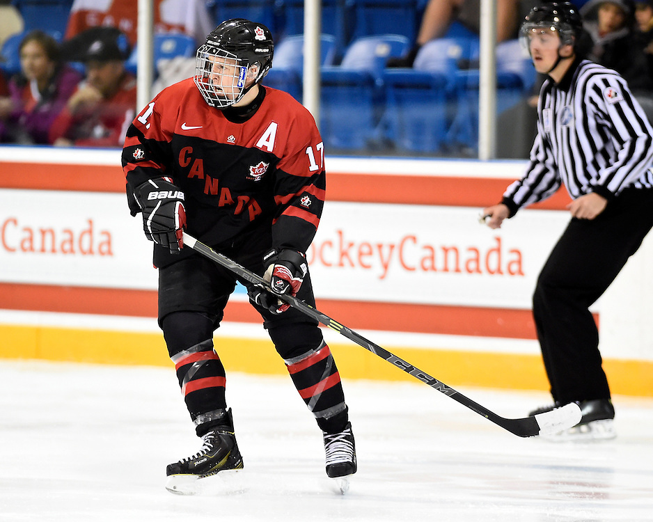 Tyler Benson of the Vancouver Giants represented Team Canada Red at the World Under-17 Hockey Challenge in Sarnia and Lambton, ON November 2-8, 2014. Photo by Aaron Bell/CHL Images