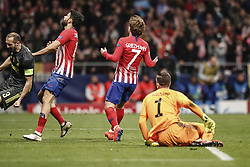 February 20, 2019 - Madrid, Spain - Antonie Griezmann (Atletico de Madrid)  frustrated as he missed a good goal scoring chance   UCL Champions League match between Atletico de Madrid vs Juventus at the Wanda Metropolitano stadium in Madrid, Spain, February 20, 2019  (Credit Image: © Enrique De La Fuente/NurPhoto via ZUMA Press)