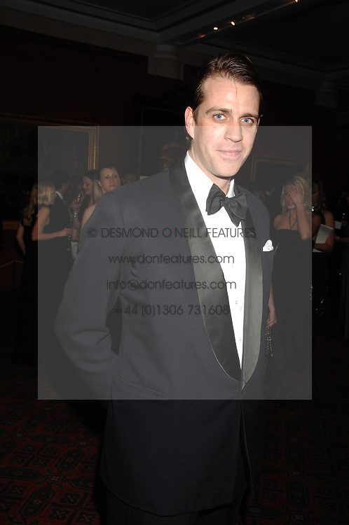 BEN ELLIOT nephew of HRH The Duchess of Cornwall at The Diner Des Tsars in aid of Unicef to celebrate the launch of Quintessentially Wine held at the Guildhall, London EC2 on 29th March 2007.<br /><br />NON EXCLUSIVE - WORLD RIGHTS