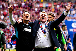 Aston Villa manager Dean Smith and Assistant Manager John Terry celebrate winning promotion to the Premier League after beating Derby County in the Sky Bet Championship Playoff Final - Mandatory by-line: Robbie Stephenson/JMP - 27/05/2019 - FOOTBALL - Wembley Stadium - London, England - Aston Villa v Derby County - Sky Bet Championship Play-off Final