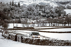 © Licensed to London News Pictures. 22/01/2019. Austwick UK. The snow covered village of Austwick this morning after a night of snow fall in the Yorkshire Dales. Photo credit: Andrew McCaren/LNP