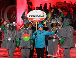 18.03.2017, Planai-Stadion, Schladming, AUT, Special Olympics 2017, Wintergames, Eröffnungsfeier, im Bild der Einmarsch der Delegation aus Burkina Faso // the delegation of Burkina Faso during the opening ceremony in the Planai Stadium at the Special Olympics World Winter Games Austria 2017 in Schladming, Austria on 2017/03/17. EXPA Pictures © 2017, PhotoCredit: EXPA / Martin Huber