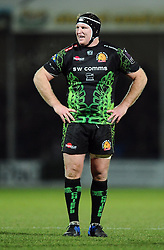 Exeter Chiefs' Number 8, Thomas Waldrom  - Photo mandatory by-line: Joe Meredith/JMP - Mobile: 07966 386802 - 24/01/2015 - SPORT - Rugby - Exeter - Sandy Park Stadium - Exeter Chiefs v Bayonne - Challenge Cup Round 6