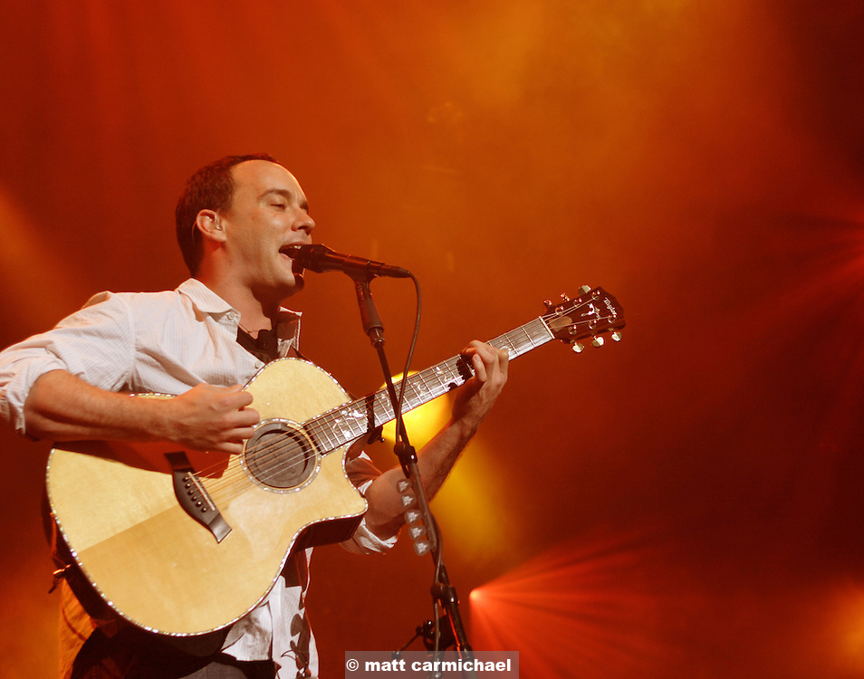 Dave Matthews band performs live in concert at Chicago's Tweeter Center.