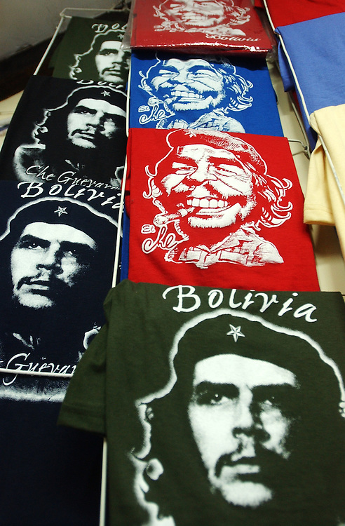 The image of Che Guevara can be found in many places across Latin America, from local protests to tourist shops.  The symbol means many things to many different people.  Often times it is used as an anti-US image, representing sovereignty and freedom.  Che T-shirts are sold throughout La Paz to locals and tourists alike.