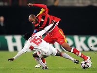 Fotball<br /> Tyskland<br /> Foto: Witters/Digitalsport<br /> NORWAY ONLY<br /> <br /> 20.10.2009<br /> <br /> v.l. Arthur Boka, Frederic Kanoute Sevilla<br /> Champions League VfB Stuttgart - FC Sevilla